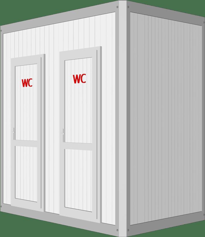 ביתן שירותים כפול